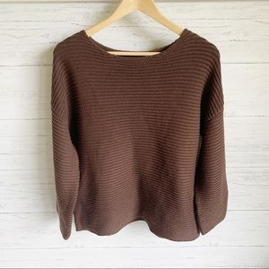 Oak + Fort Chestnut Ribbed Sweater Boxy Loose